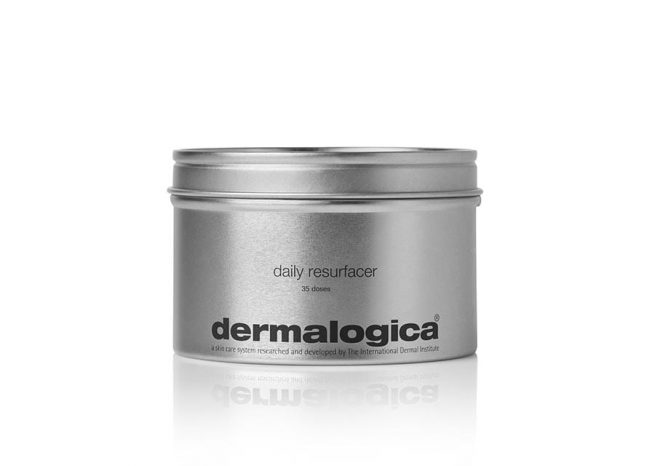 Photo showing the packaging of daily resurfacer by Dermalogica