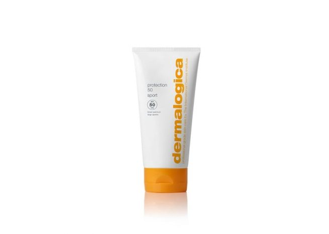 Photo showing the packaging of protection 50 sport spf50 by Dermalogica