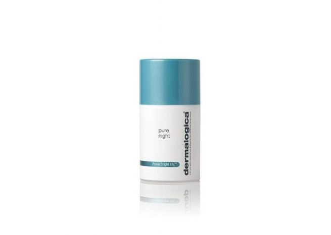 Photo showing the packaging of pure night by Dermalogica